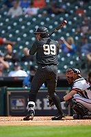 Jayson Gonzalez (99) of the Vanderbilt Commodores at bat against the Sam Houston State Bearkats in game one of the 2018 Shriners Hospitals for Children College Classic at Minute Maid Park on March 2, 2018 in Houston, Texas. The Bearkats walked-off the Commodores 7-6 in 10 innings.   (Brian Westerholt/Four Seam Images)