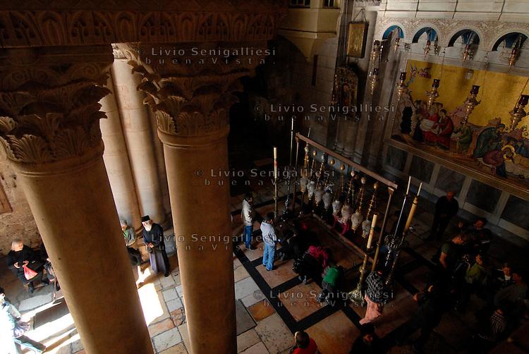Gerusalemme / Israele.Ingresso del Santo Sepolcro.Foto Livio Senigalliesi..Jerusalem / Israel.Main Entrance to the Church of the Holy Sepulchre.Photo Livio Senigalliesi