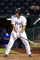 Brock Chaffin (25) of the Missouri State Bears stands at the plate during a game against the Kansas Jayhawks at Hammons Field on March 27, 2012 in Springfield, Missouri. (David Welker/Four Seam Images)
