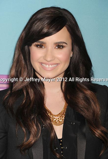 LOS ANGELES, CA - DECEMBER 19: Demi Lovato  arrives at Fox's 'The X Factor' Season Finale Night 1 at CBS Televison City on December 19, 2012 in Los Angeles, California.