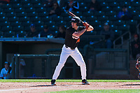 Oregon State Beavers designated hitter Alex McGarry (44) at bat during a game against the Gonzaga Bulldogs on February 16, 2019 at Surprise Stadium in Surprise, Arizona. Oregon State defeated Gonzaga 9-3. (Zachary Lucy/Four Seam Images)