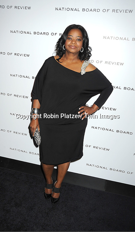 actress Octavia Spencer attends The National Board of Review Film Awards Gala on January 10, 2012 at Cipriani 42nd Street in New York City.
