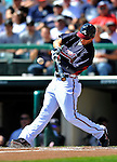 8 March 2011: Atlanta Braves outfielder Jordan Schafer in action during a Spring Training game against the New York Yankees at Champion Park in Orlando, Florida. The Yankees edged out the Braves 5-4 in Grapefruit League action. Mandatory Credit: Ed Wolfstein Photo