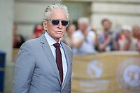 Michael Douglas, arrives at the Guildhall in Swansea, Wales, UK. Wednesday 24 July 2019<br /> Re: Catherine Zeta-Jones receives the honorary freedom of the City and County of Swansea during a ceremony at the Guildhall in Swansea, Wales, UK.