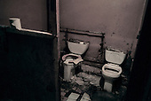 Tolyatti, Russia..The only toilet in the rehabilitation center for heroine addicts and confirmed HIV infected users.