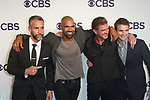 Left to right Jay Harrington, Shemar Moore, Kenny Johnson and Alex Russell arrive at the CBS Upfront at The Plaza Hotel in New York City on May 17, 2017.