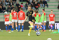 20180410 - FERRARA , ITALY : Belgian Tessa Wullaert pictured during warming up ahead of the female soccer game between Italy and the Belgian Red Flames , the fifth game in the qualificaton for the World Championship qualification round in group 6 for France 2019, Tuesday 10 th April 2018 at Stadio Paolo Mazza / Stadio Comunale in Ferrara , Italy . PHOTO SPORTPIX.BE | DAVID CATRY