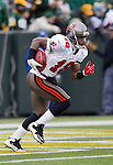 Tampa Bay Buccaneers kick returner/wide receiver Sammie Stroughter (18) returns a kick during a Week 11 NFL football game against the Green Bay Packers on November 20, 2011 in Green Bay, Wisconsin. The Packers won 35-26. (AP Photo/David Stluka)