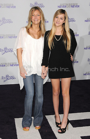 """Heather Locklear and Ava Sambora at the Los Angeles premiere of """"Justin Bieber: Never Say Never""""  at Nokia Theater at L.A. Live in Los Angeles, CA, USA.February 8, 2011 © mpi11 / MediaPunch Inc."""