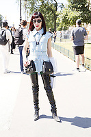 JUL 02 Street fashion outside Chanel show in Paris