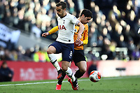 1st March 2020; Tottenham Hotspur Stadium, London, England; English Premier League Football, Tottenham Hotspur versus Wolverhampton Wanderers; Pedro Neto of Wolverhampton Wanderers takes on Harry Winks of Tottenham Hotspur