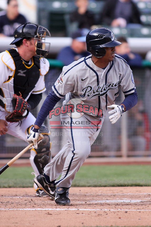 April 27, 2009:  Kevin Howard of the Portland Beavers, Pacific Cost League Triple A affiliate of the San Diego Padres, during a game at the Spring Mobile Ballpark in Salt Lake City, UT.  Photo by:  Matthew Sauk/Four Seam Images