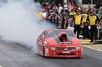 May 10, 2013; Commerce, GA, USA: NHRA pro stock driver Rickie Jones during qualifying for the Southern Nationals at Atlanta Dragway. Mandatory Credit: Mark J. Rebilas-