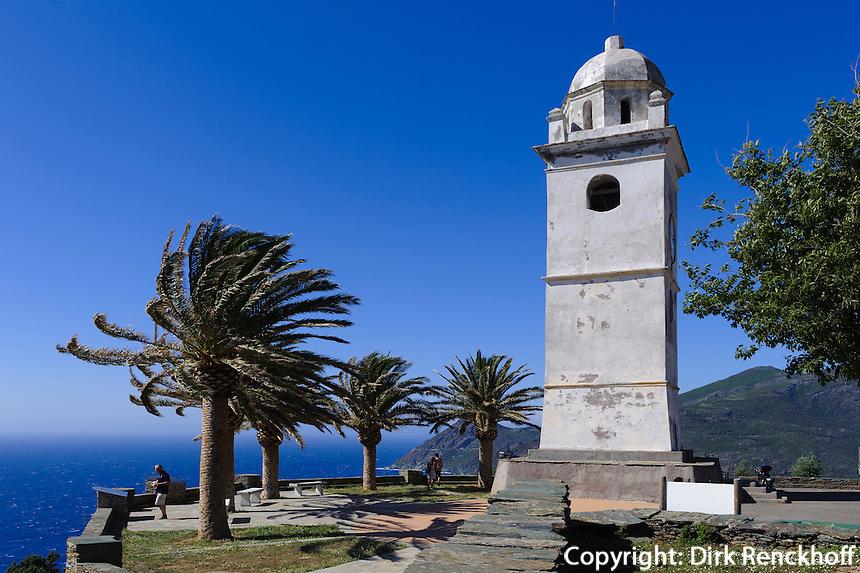 Glockenturm in Canari auf Cap Corse, Korsika, Frankreich