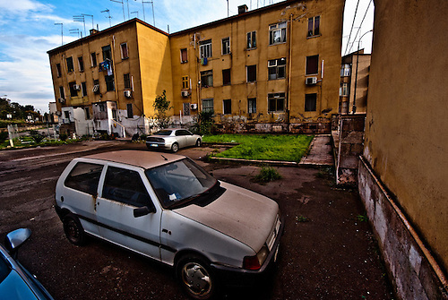 Taranto Italy 2010<br /> View of Tamburi quarter in Taranto.