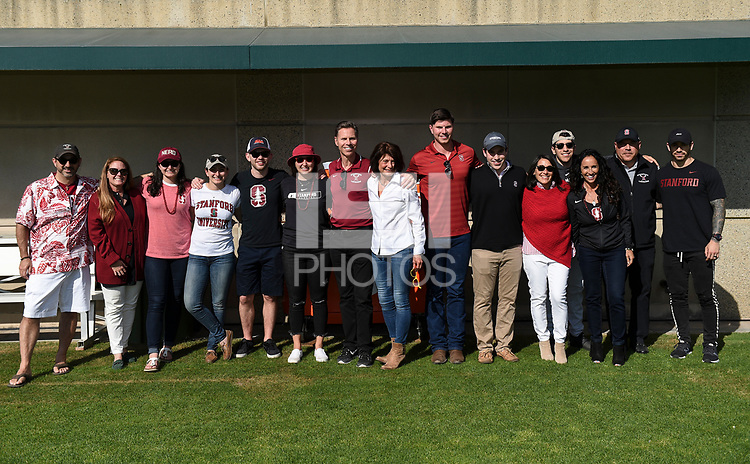 Stanford, Ca - April 19, 2019: The Stanford Cardinal v University of California Golden Bears Women's Lacrosse at Maloney Field at Laird Q. Cagan Stadium in Stanford, CA.Stanford, Ca - April 19, 2019: The Stanford Cardinal v University of California Golden Bears Women's Lacrosse at Maloney Field at Laird Q. Cagan Stadium in Stanford, CA. Final score, Stanford Cardinal 17, University of California Golden Bears 6.