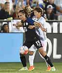 Alex Morgan (USA), Saori Ariyoshi (JPN), JUNE 2, 2016 - Football / Soccer : Women's International Friendly match between United States 3-3 Japan at Dick's Sporting Goods Park in Commerce City, Colorado, United States. (Photo by AFLO)