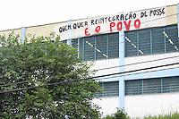 SANTO ANDRÉ,SP, 17.11.2015 - PROTESTO-ESTUDANTES - Estudantes ocupam a Escola Estadual Valdomiro Silveira em Santo André região do ABC paulista, em ato contra o fechamento de escolas e o plano de reestruturação do ensino proposto pelo governo Geraldo Alckmin (PSDB) para 2016, nesta terça-feira, 17. (Foto: Marcos Moraes/Brazil Photo Press)