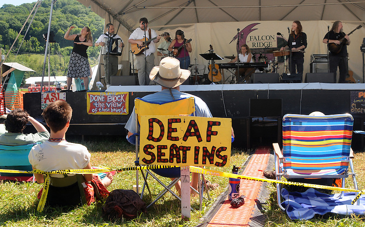 "Overview during the 'Gospel Wake Up Call"" Show, at the  Main Stage of the Falcon Ridge Folk Festival, held on Dodd's Farm in Hillsdale, NY on Sunday, August 2, 2015. Photo by Jim Peppler. Copyright Jim Peppler 2015."