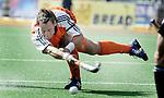 Champions Trophy Hockey mannen. De Nederlandse strafcornerspecialist, Taeke Taekema, in aktie tegen Nieuw Zeeland. bij verhaal sport ANP