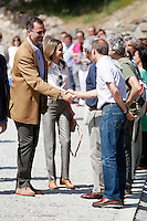 "Prince Felipe and Princess Letizia of Spain visit ""Sierra de Guadarrama"" recenty designated ""National Park"" in Madrid, Spain. July 10, 2013. (Victor J Blanco/Alterphotos) ©NortePhoto"