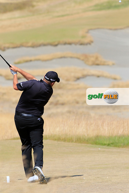 Shane LOWRY (IRL) tees off the 7th tee during Sunday's Final Round of the 2015 U.S. Open 115th National Championship held at Chambers Bay, Seattle, Washington, USA. 6/21/2015.<br /> Picture: Golffile | Eoin Clarke<br /> <br /> <br /> <br /> <br /> All photo usage must carry mandatory copyright credit (&copy; Golffile | Eoin Clarke)