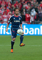 21 April 2012: Chicago Fire midfielder Daniel Paladini #11 in action during a game between the Chicago Fire and Toronto FC at BMO Field in Toronto..The Chicago Fire won 3-2....