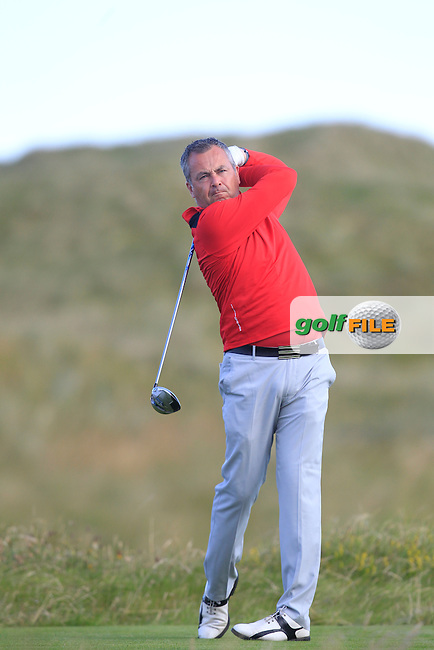 Pat Murray (Limerick) on the 2nd tee during Matchplay Round 3 of the South of Ireland Amateur Open Championship at LaHinch Golf Club on Saturday 25th July 2015.<br /> Picture:  Golffile | TJ Caffrey