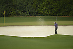 AUGUSTA, GA - APRIL 12: Phil Mickelson hits out of the bunker during the Second Round of the 2013 Masters Golf Tournament at Augusta National Golf Club on April 10in Augusta, Georgia. (Photo by Donald Miralle) *** Local Caption ***
