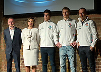 Paddy Lowe, Claire Williams Lance Stroll, Sergey Sirotkin and Robert Kubica during the Williams 2018 F1 Car Launch at Villiage Underground, London, England on 15 February 2018. Photo by Vince  Mignott.