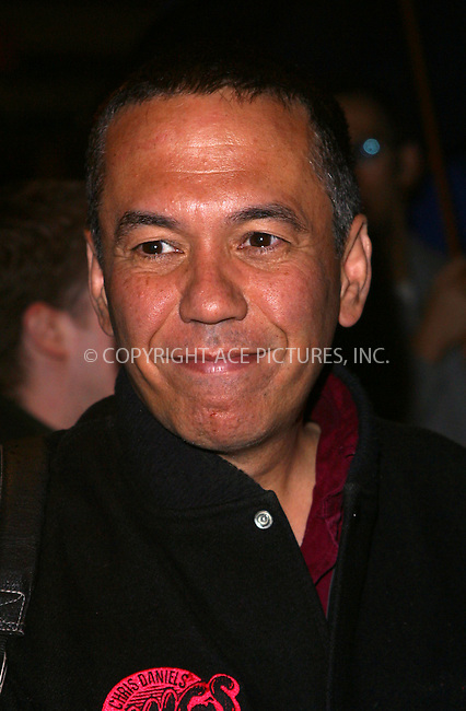 """Gilbert Gottfried arrives at the Broadway Opening Night of """"Bill Maher: Victory Begins at Home"""" at Virginia Theatre in New York, May 5, 2003. Please byline: Alecsey Boldeskul/NY Photo Press.   ..*PAY-PER-USE*      ....NY Photo Press:  ..phone (646) 267-6913;   ..e-mail: info@nyphotopress.com"""