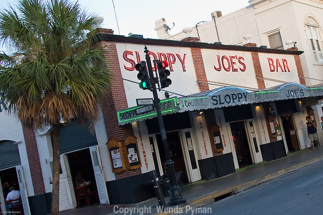 Famous Sloppy Joe's Bar on Duval St. in historic Key West.