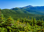 Scenic views of the Presidential Range from Mount Jackson in the White Mountains of New Hampshire.