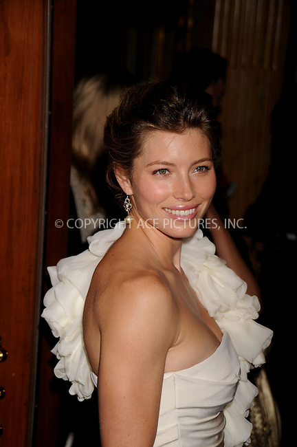 WWW.ACEPIXS.COM . . . . .....September 8, 2008. Toronto, Canada....Actress Jessica Biel attends the 2008 Toronto Film Festival Premiere of 'Easy Virtue' held at Elgin Theatre in Toronto, Canada...  ....Please byline: Kristin Callahan - ACEPIXS.COM..... *** ***..Ace Pictures, Inc:  ..Philip Vaughan (646) 769 0430..e-mail: info@acepixs.com..web: http://www.acepixs.com