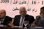 "Palestinian President Mahmoud Abbas , gestures as he addresses a meeting of the Central Council of the Palestine Liberation Organization (PLO) n the West Bank town of Ramallah, 15 December 2009. Palestinian President Mahmoud Abbas reiterated 15 December his determination not to seek reelection to the presidency, and said he had other options, which he would announce at a later date. ""I will not run again for the presidency in any upcoming presidential elections,"" the president told the 129-member Palestine Liberation Organization Central Council meeting in Ramallah, repeating an announcement originally made on November 5. The council is expected during its two day meeting to formally ask Abbas to say in power until new elections can be held. Photo by Issam Rimawi"