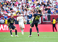 Landover, MD - August 4, 2018: Juventus defender Daniele Rugani (24) in action during the match between Juventus and Real Madrid at FedEx Field in Landover, MD.   (Photo by Phillip Peters/Media Images International)