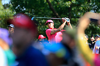 Tony Finau (USA) on the 3rd tee during the 3rd round at the WGC HSBC Champions 2018, Sheshan Golf CLub, Shanghai, China. 27/10/2018.<br /> Picture Fran Caffrey / Golffile.ie<br /> <br /> All photo usage must carry mandatory copyright credit (&copy; Golffile | Fran Caffrey)