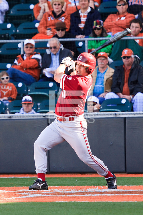 AUSTIN, TEXAS-March 6, 2011:  Dave Giuliani of Stanford pinch hits during the game against the Texas Longhorns, at Disch-Falk field in Austin, Texas.  Texas defeated Stanford 4-2.