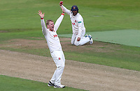 Simon Harmer of Essex appeals for a wicket during Warwickshire CCC vs Essex CCC, Specsavers County Championship Division 1 Cricket at Edgbaston Stadium on 10th September 2019