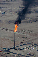aerial photograph natural gas flare southern Wyoming