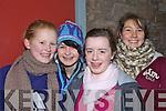 Lauren Flavin, Niamh Horan, Geraldine Walsh and Shauna Buckley at opening night of 'Cinderella' last Tuesday night in Scoil Realta, Listowel.