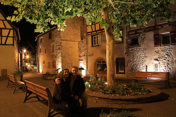 John and Beth in Eguisheim, Alsace, France