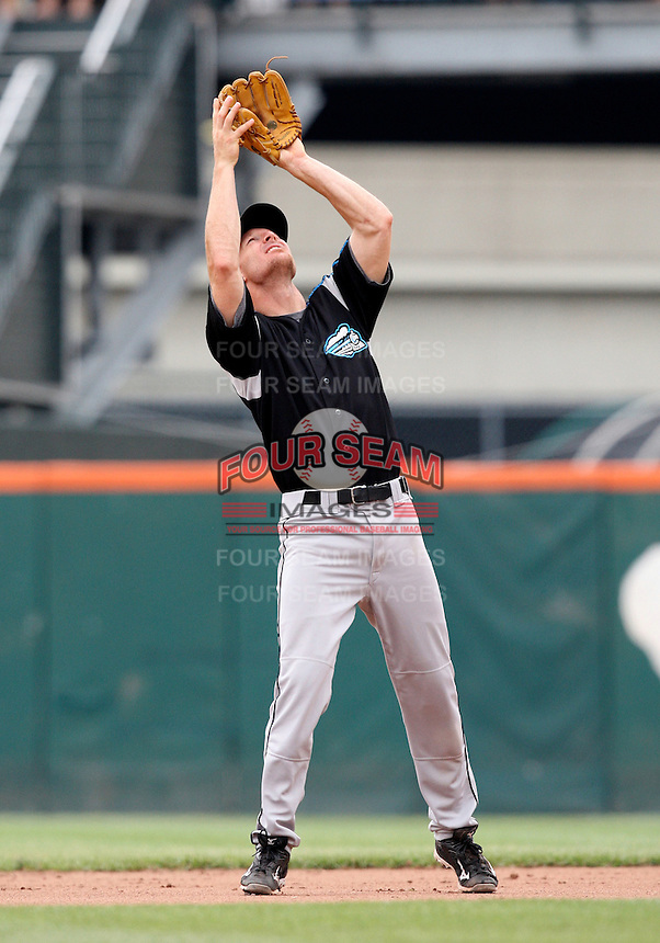 Syracuse Chiefs Second Baseman Pete Orr during a game vs. the Buffalo Bisons at Coca-Cola Field in Buffalo, New York;  June 3, 2010.  Syracuse defeated Buffalo 7-1.  Photo By Mike Janes/Four Seam Images