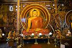 Large Buddha statue Gangaramaya Buddhist Temple, Colombo, Sri Lanka, Asia