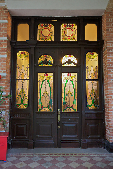 West Wing Door To The Staff Quarters, Imperial Maritime Customs (1908), 2-6 Main Street On Shamian (Shameen) Island.  The Door Leads To What Is Now A Small Bar Area.