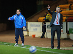 St Johnstone v Brechin....22.03.11  Scottish Cup Quarter Final replay.Derek McInnes and Jim Weir.Picture by Graeme Hart..Copyright Perthshire Picture Agency.Tel: 01738 623350  Mobile: 07990 594431