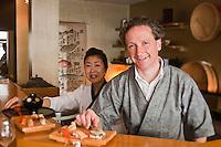 Europe/France/Bretagne/29/Finistère/Brest: Mika et Xavier Pensec, Restaurant  japonais: Hinoki, [Non destiné à un usage publicitaire - Not intended for an advertising use]
