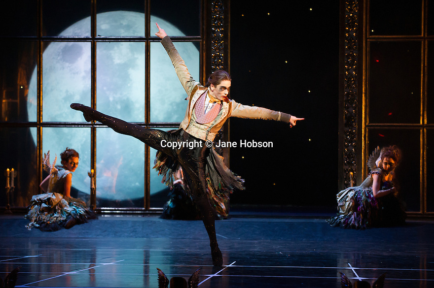 London, UK. 07.12.2012. MATTHEW BOURNE'S SLEEPING BEAUTY: A GOTHIC FAIRYTALE premieres at Sadler's Wells. Liam Mower (Tantrum) in Act I. Photo credit: Jane Hobson.