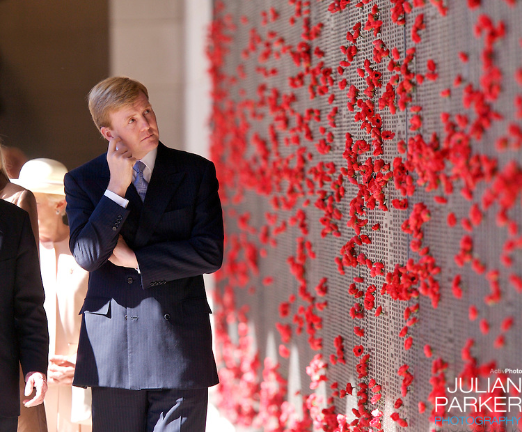 Crown Prince Willem-Alexander & Crown Princess Maxima of the Netherlands six-day tour of Australia..Visit to the Australian War Memorial in Canberra..