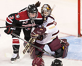 Katie MacSorley (NU - 3), Corinne Boyles (BC - 29) - The Boston College Eagles defeated the Northeastern University Huskies 3-0 on Tuesday, February 11, 2014, to win the 2014 Beanpot championship at Kelley Rink in Conte Forum in Chestnut Hill, Massachusetts.